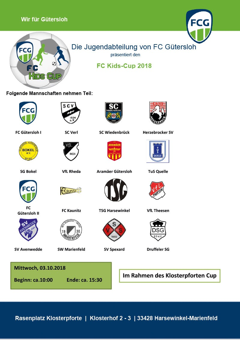 """Plakat """"FC Kids Cup 2018"""""""